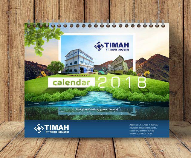 jasa desain kalender meja